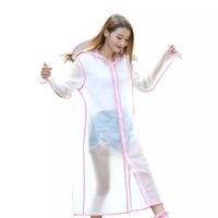 "Rain jacket ""Transparent"" fuchsia"