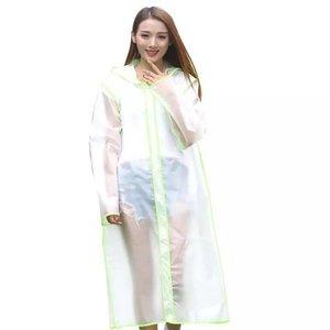 "Rain jacket ""Transparent"" neon green"
