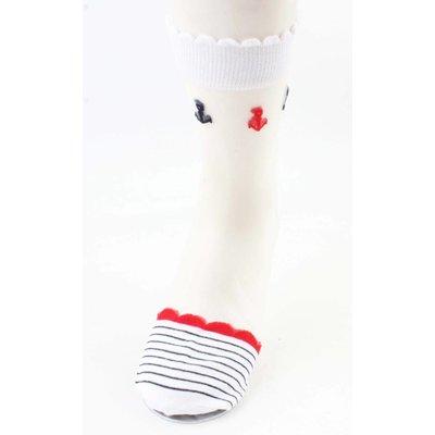 """Socken """"Marine"""" weiße"""