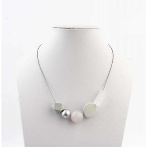 "Necklace ""Rebecca"" grey"