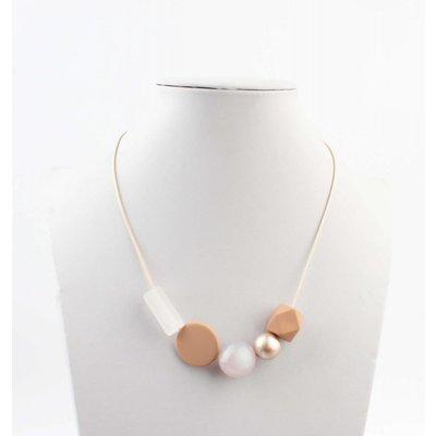 "Short necklace ""Rebecca"" blush"