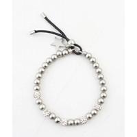 Bracelet switched balls matt silver