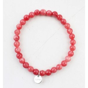 "Natural stone bracelet ""Camelian"""