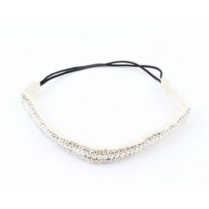 "Headband ""Pearls"" silver"