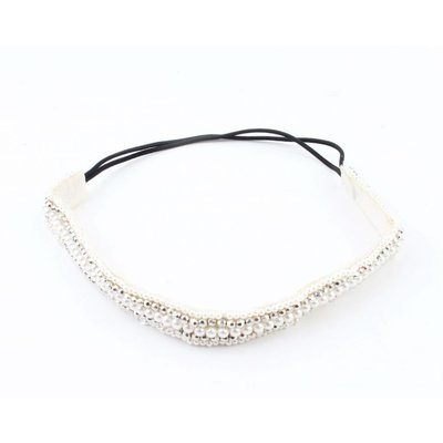 "Haarband ""Perlen"" silber"