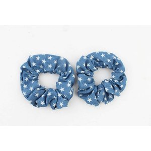 "Scrunchie ""Stars"" denim blue"