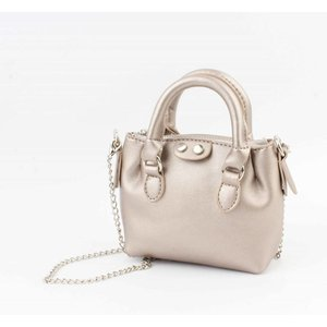 "Cross body ""Petit"" metallic taupe"