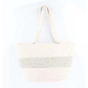 """Shopper/Strand Tasche """"Rosalie"""" weiß"""