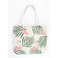 """Shopper/beach bag """"Flamingo"""" sand"""