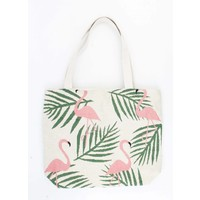 "Shopper/Strandtas ""Flamingo"" zand"