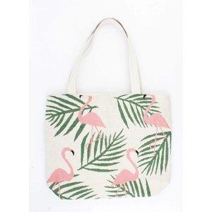 """Shopper/Strandtas """"Flamingo"""" zand"""