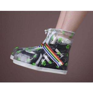 "Festival rain shoe ""Clover"" white/transparent"