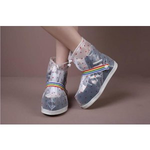 "Festival rain shoe ""Dots"" white/transparent"