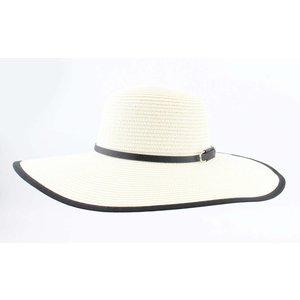 "Flap hat ""Riviera"" cream/black"