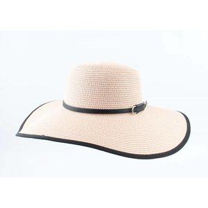 "Flap hat ""Riviera"" pink/black"