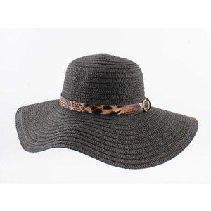 """Flap hat """"Leopard"""" black"""