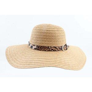 """Flap hat """"Leopard"""" brown"""