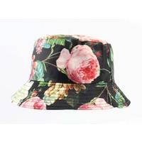 "Sun Hat ""Rose"" black/green"