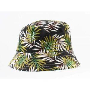 "Sun Hat ""Palm leaf"" black/green"