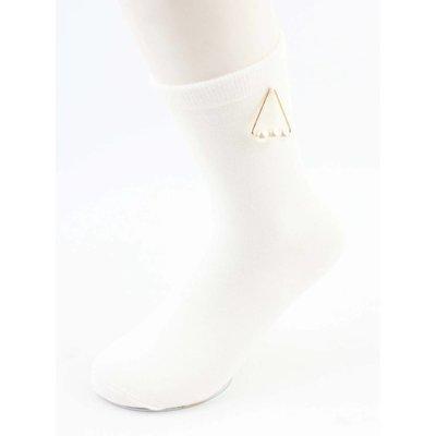 "Socken ""Triangle Perlen"" weiß"