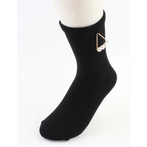 "Socks ""Triangle pearls"" black"