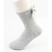 "Socks ""Bow"" grey"