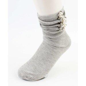 "Socks ""Pearls & Balls"" grey"
