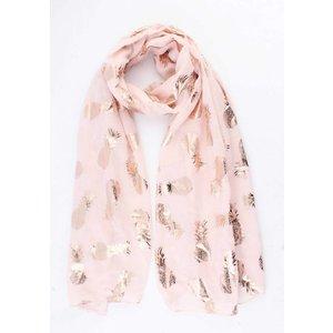 "Sjaal ""Shiny Pineapple"" roze"