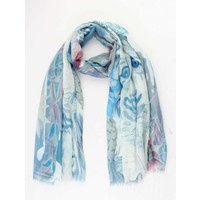 "Scarf ""Lion"" blue"