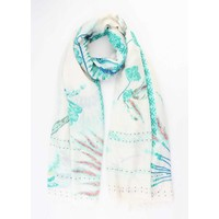 """Scarf """"Indian"""" mint green"""