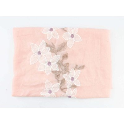"""Schal """"Gestickte Blume"""" rosa"""