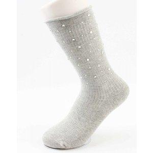 "Socken ""Multi-Strass"" grau"