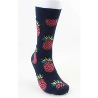 """Heren sokken """"Ananas"""" blauw"""