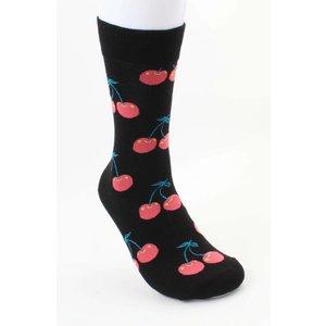 """Heren sokken """"Kers"""" zwart"""
