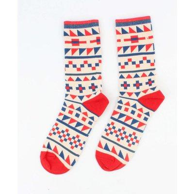 """Heren sokken """"Tetris"""" rood"""