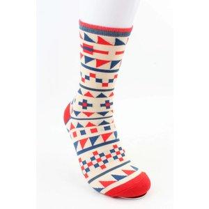 """Men's socks """"Tetris"""" Red"""