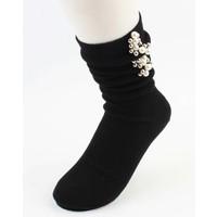 "Socken ""Perlen & Kugeln"" schwarze"