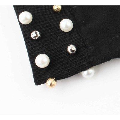 "Maillot ""Pearls"" black"