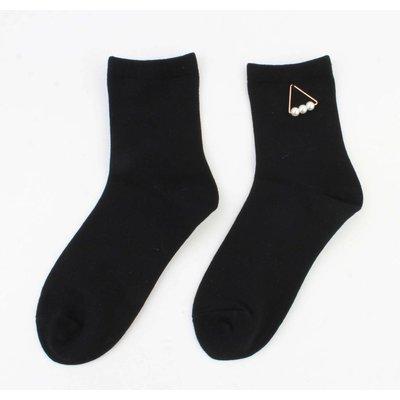 "Socken ""Triangle Perlen"" schwarz"