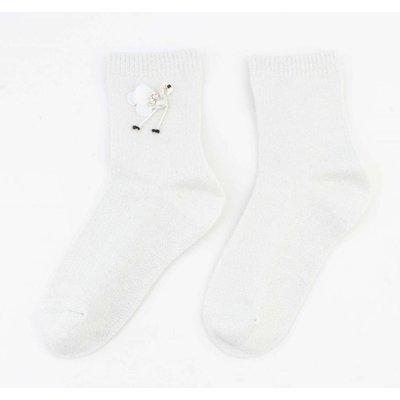 "Socken ""Flamingo"" weiße"