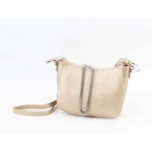 "Cross body ""Bracelet"" metallic taupe"