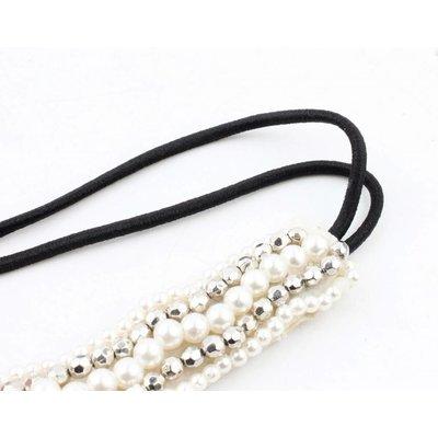"Headband ""Pearls"" silver"