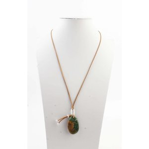 "Necklace ""Kitty"" brown/green"