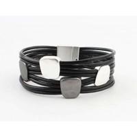 "Bracelet ""Metal squares"" black"