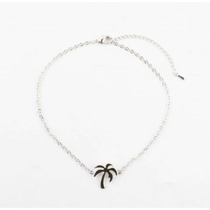 """Anklet """"Palm tree"""" silver"""