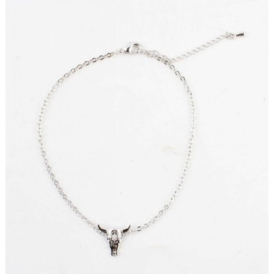 """Anklet """"Longhorn"""" silver"""