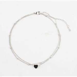 "Anklet ""heart"" silver"