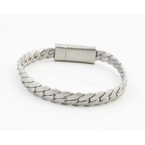 """Armband """"Liv"""" mat zilver"""