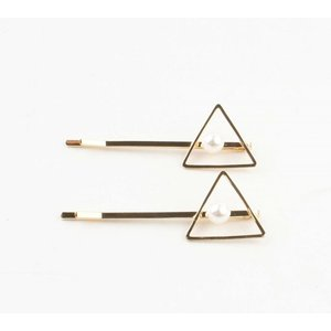 """Haarschuifjes """"Triangel"""" goud, per 2 paar"""