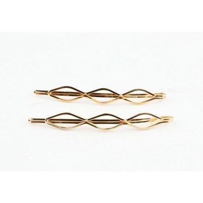 """Hair sliders """"Waves"""" gold, per 2 pairs"""
